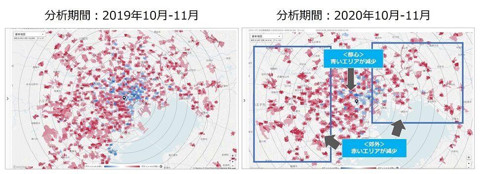 某商業施設(渋谷区)来訪者のポテンシャルマップ分析