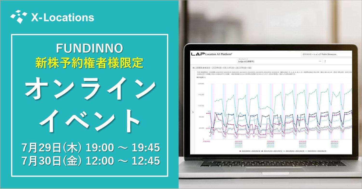 FUNDINNO新株予約権者様限定オンラインイベントトップイメージ